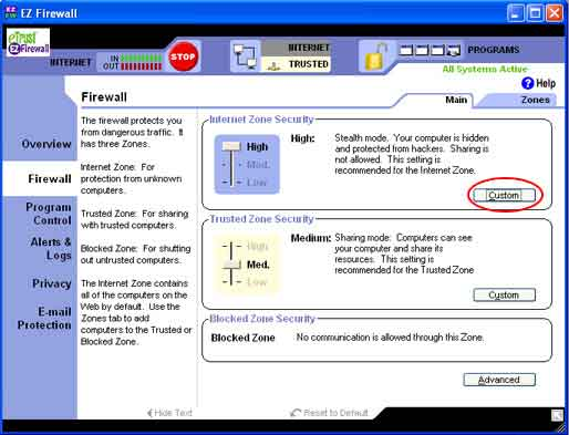 <strong>How to configure My E-Trust EZ Firewall</strong>