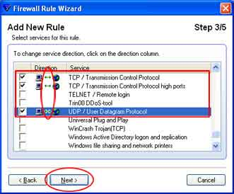Configuratie F-Secure Internet Security Firewall