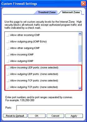 Here is how to configure your ZoneAlarmFree Firewall for the SPAMfighter Server