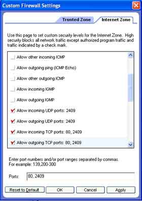 Here is how to configure your Zone Alarm Firewall for the SPAMfighter Server