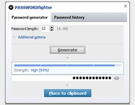 Generate strong passwords using the password generator