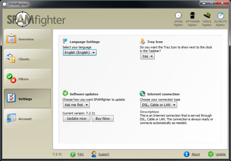 SPAMfighter Pro Screenshot