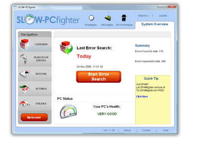 Get a free SLOW-PCfighter scan - State-of-the-art PC optimizer