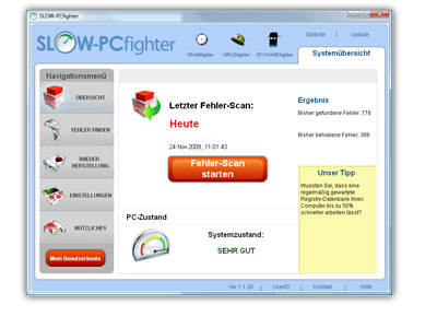 Downloaden Sie SLOW-PCfighter - SLOW-PCfighter repariert Ihren Computer