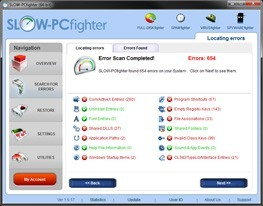 SLOW-PCfighter searches your Windows 7 for issues