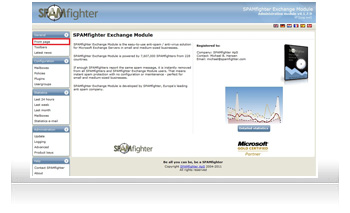 SPAMfighter Exchange Module screenshots