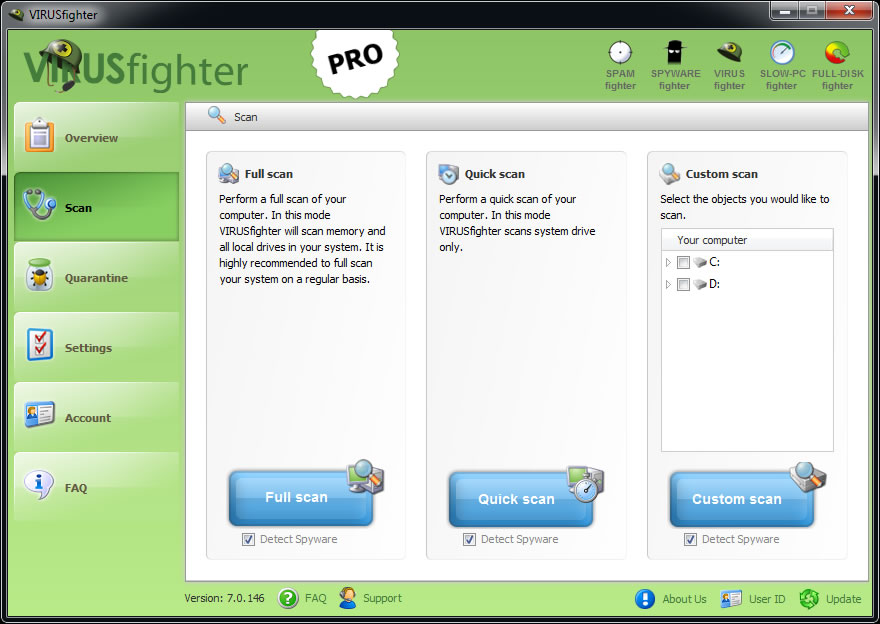 VIRUSfighter Pro Screenshot
