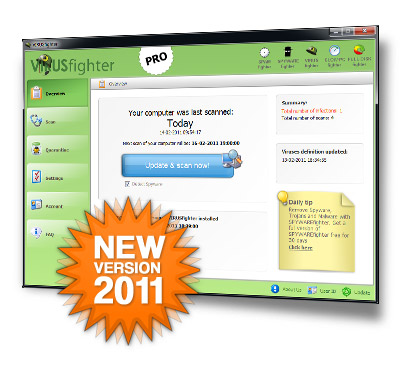 Click to view VIRUSfighter 7.0.254 screenshot