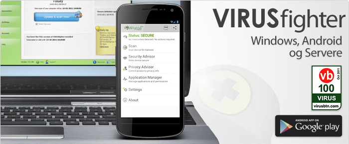 Antivirus software til din Windows PC, Android og Servere