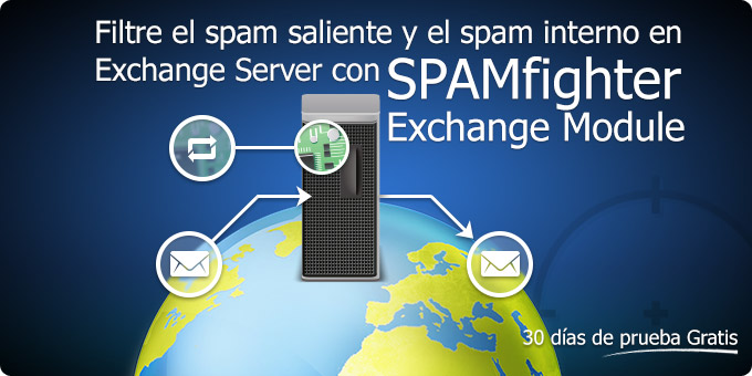 Filtre el <em>spam</em> saliente y el <em>spam</em> interno en el Servidor Exchange con el Módulo SPAMfighter Exchange