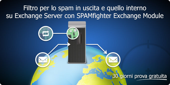 Filtro per lo spam in uscita e quello interno su Exchange Server con SPAMfighter Exchange Module