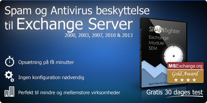 Spam Filter og virusbeskyttelse til Exchange Server 2000,  2003, 2007 og 2010