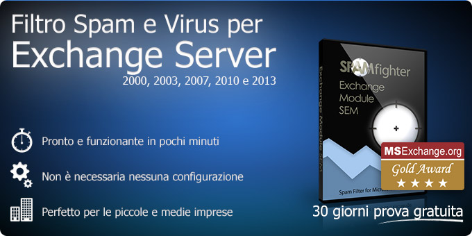 Filtro  Spam e Virus per Exchange Server 2000, 2003, 2007, 2010
