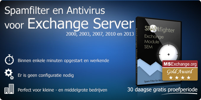 Spamfilter en Antivirus voor Exchange Server 2013, 2010, 2007, 2003 en 2000