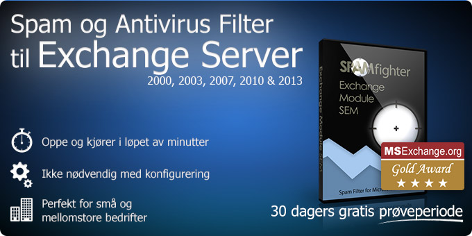 Spam- og Antivirusfilter til Exchange 2000, 2003, 2007 og 2010
