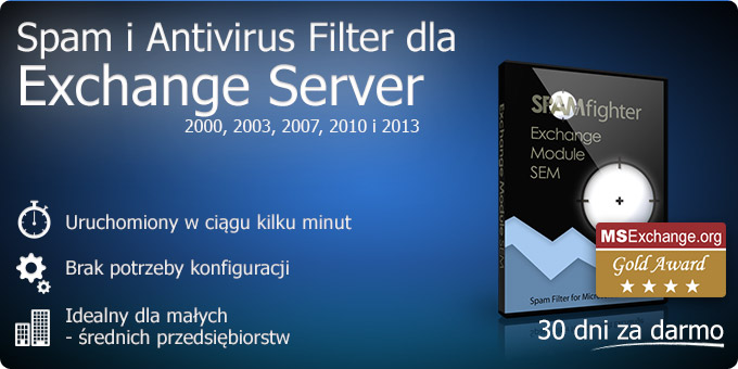 Spam i Antivirus Filter dla Exchange Server 2000, 2003, 2007 i 2010