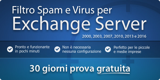 Filtro Spam e Virus per Exchange Server 2000 - 2013