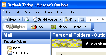 Spam / phishing filter for Outlook/Thunderbird/Live Mail. Download free! affordable Screen Shot