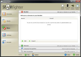 SPAMfighter has a very simple user interface.