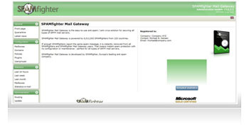 Screenshots of  SPAMfighter Mail Gateway (SMG) - You can enlarge the image by clicking on it.